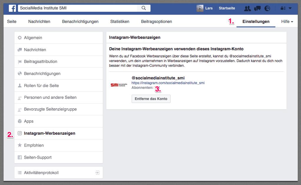 facebook-instagram-verknüpfen
